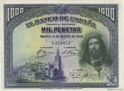 1000 Pesetas ESPAGNE  1928 P.078a pr.NEUF