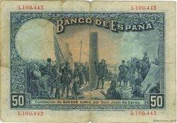 50 Pesetas ESPAGNE  1931 P.080 TB+