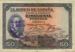 50 Pesetas ESPAGNE  1931 P.080 pr.TTB