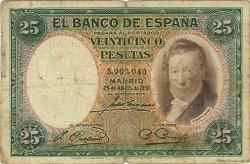 25 Pesetas ESPAGNE  1931 P.081 B