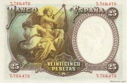 25 Pesetas ESPAGNE  1931 P.081 SPL