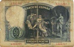 50 Pesetas ESPAGNE  1931 P.082 B