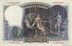 50 Pesetas ESPAGNE  1931 P.082 TTB+