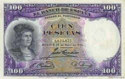 100 Pesetas ESPAGNE  1931 P.083 TTB+