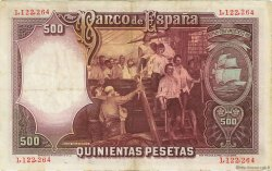 500 Pesetas ESPAGNE  1931 P.084 TTB