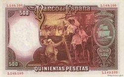 500 Pesetas ESPAGNE  1931 P.084 TTB+