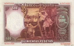 500 Pesetas ESPAGNE  1931 P.084 SPL