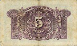 5 Pesetas ESPAGNE  1935 P.085a TB+