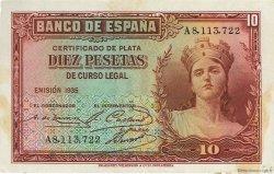 10 Pesetas ESPAGNE  1935 P.086a SUP