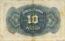 10 Pesetas ESPAGNE  1936 P.086a TB à TTB
