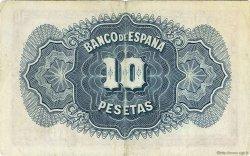 10 Pesetas ESPAGNE  1936 P.086a TTB