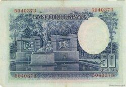 50 Pesetas ESPAGNE  1935 P.088 SUP