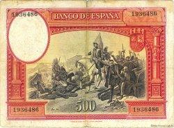500 Pesetas ESPAGNE  1935 P.089 TB à TTB