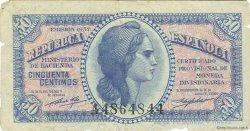 50 Centimos ESPAGNE  1937 P.093 TTB