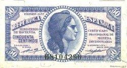 50 Centimos ESPAGNE  1937 P.093 SUP