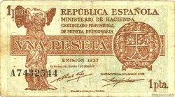 1 Peseta ESPAGNE  1937 P.094 TTB