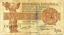 1 Peseta ESPAGNE  1937 P.094 TB