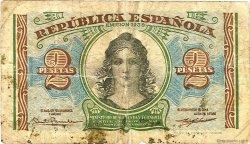 2 Pesetas ESPAGNE  1937 P.095 TB