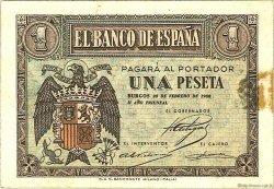 1 Peseta ESPAGNE  1938 P.107a pr.SUP
