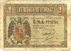 1 Peseta ESPAGNE  1938 P.108a AB