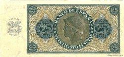 25 Pesetas ESPAGNE  1936 P.099 SPL