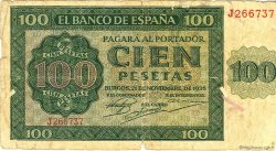 100 Pesetas ESPAGNE  1936 P.101 B