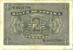 2 Pesetas ESPAGNE  1938 P.109a TB