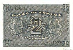 2 Pesetas ESPAGNE  1938 P.109a NEUF