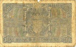 50 Pesetas ESPAGNE  1940 P.117 AB