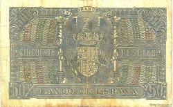 50 Pesetas ESPAGNE  1940 P.117 TB
