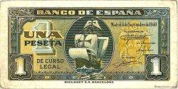 1 Peseta ESPAGNE  1940 P.122a TTB+