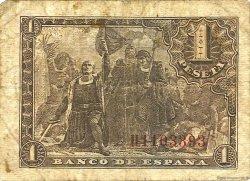 1 Peseta ESPAGNE  1943 P.126a B