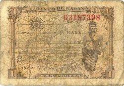 1 Peseta ESPAGNE  1945 P.128a AB