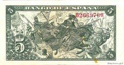 5 Pesetas ESPAGNE  1945 P.129a TTB+