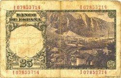 25 Pesetas ESPAGNE  1946 P.130a B