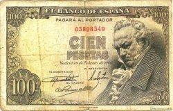 100 Pesetas ESPAGNE  1946 P.131a B+