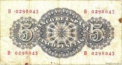 5 Pesetas ESPAGNE  1947 P.134a TB+