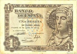1 Peseta ESPAGNE  1948 P.135a TTB