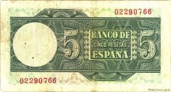 5 Pesetas ESPAGNE  1948 P.136a TTB