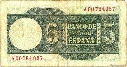 5 Pesetas ESPAGNE  1948 P.136a TB