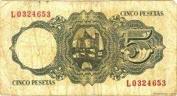 5 Pesetas ESPAGNE  1951 P.140a