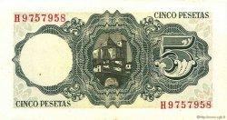 5 Pesetas ESPAGNE  1951 P.140a TTB