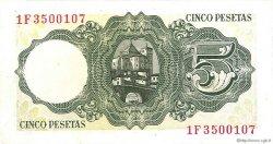5 Pesetas ESPAGNE  1951 P.140a SUP