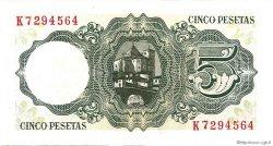 5 Pesetas ESPAGNE  1951 P.140a pr.NEUF
