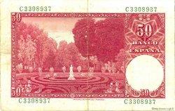50 Pesetas ESPAGNE  1951 P.141a TTB