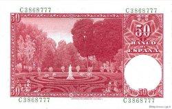 50 Pesetas ESPAGNE  1951 P.141a SPL