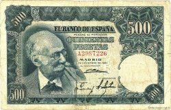 500 Pesetas ESPAGNE  1951 P.142a B à TB