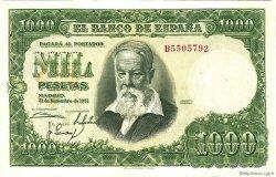 1000 Pesetas ESPAGNE  1951 P.143a SPL