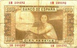 100 Pesetas ESPAGNE  1953 P.145a B