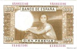 100 Pesetas ESPAGNE  1953 P.145a TTB
